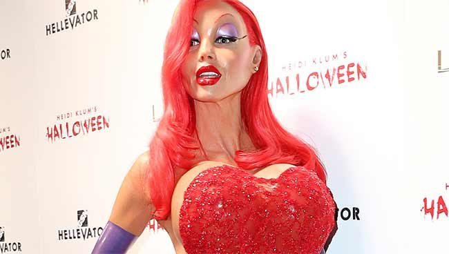 Heidi Klum incredibile vestita da Jessica Rabbit
