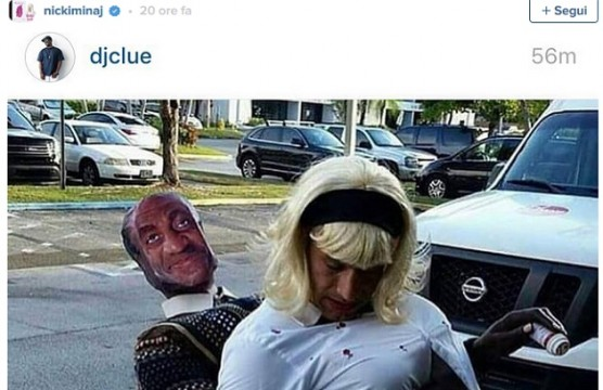Nicki Minaj e il costume di Bill Cosby