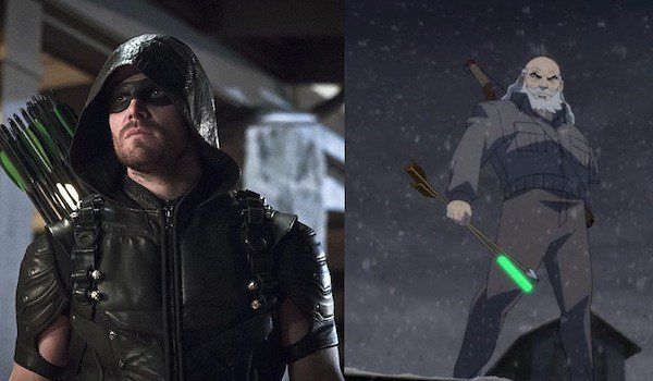 Stephen Amell nel ruolo dell'anziano Oliver Queen in Legends of Tomorrow