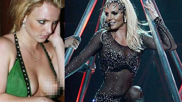 Britney Spears incidente il vestito scopre tutto