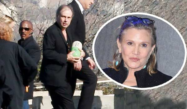 Carrie Fisher pillola di prozac come urna