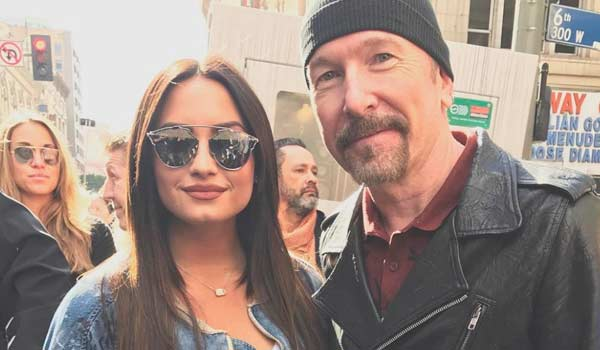 demi lovato un onore incontrare the edge