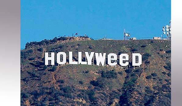 Scherzo di Capodanno a Los Angeles, la scritta Hollywood diventa Hollyweed