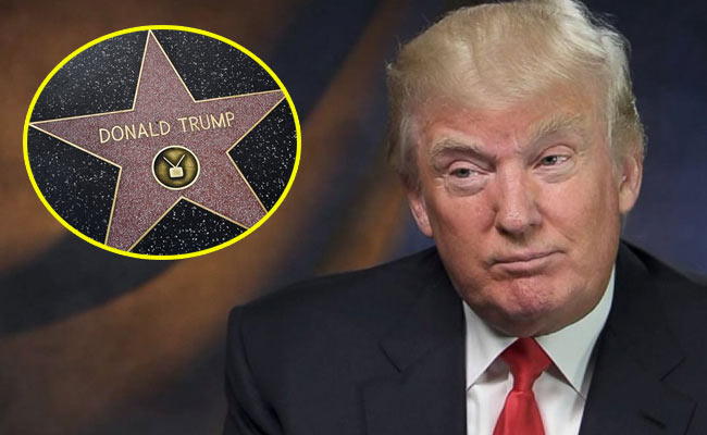 donald trump sporcata stella walk of fame