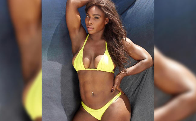 serena williams bikini giallo