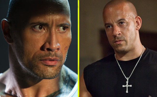 vin diesel contro the rock
