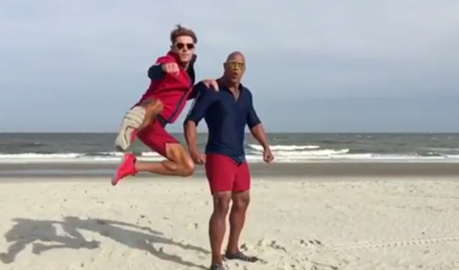 zac efron dwayne johnson baywatch