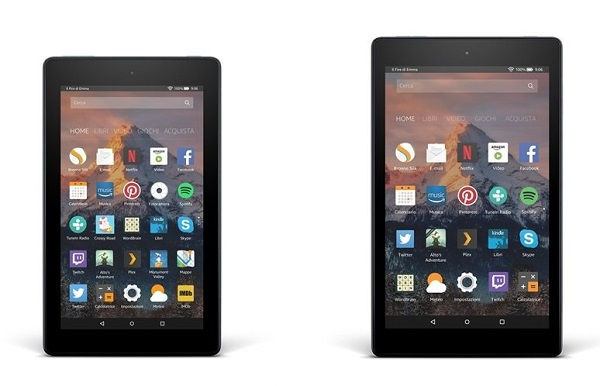 Amazon, i nuovi tablet Fire 7 e Fire HD 8 disponibili in preordine
