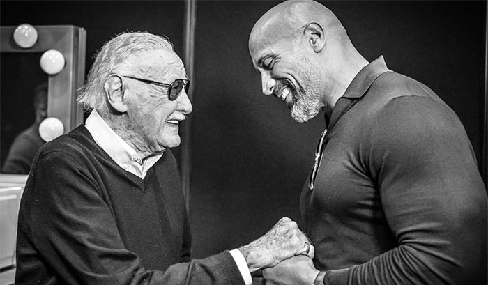 dwayne johnson lettera per stan lee