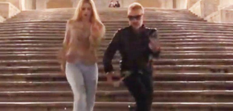 Gianluca Vacchi il nuovo ballo con Michelle Hunziker