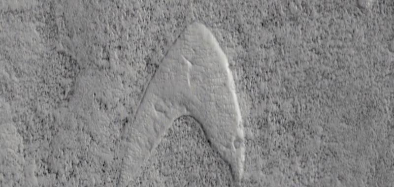 Il simbolo di Star Trek su Marte incredibile scoperta
