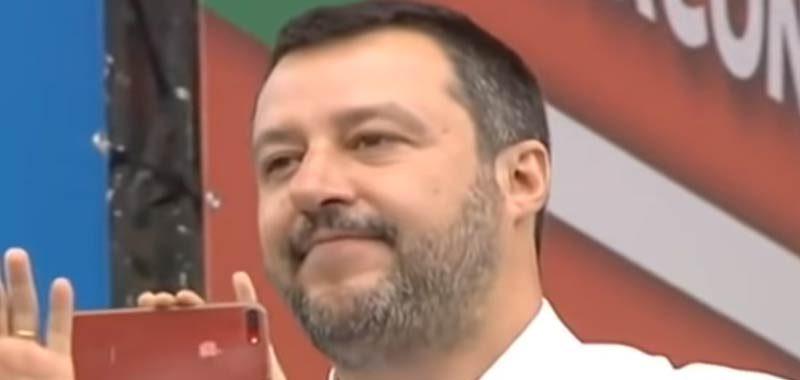 Matteo Salvini a Carpi preannuncia la vittoria della Lega alle regionali