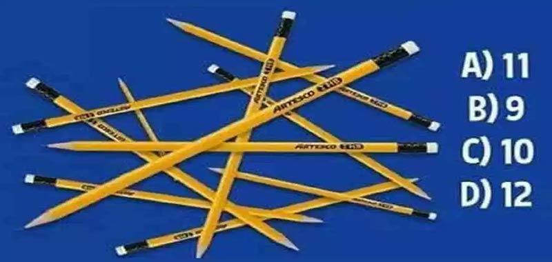 Quante matite vedi La risposta entro 10 secondi