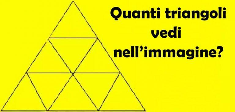Quanti triangoli ci sono nell'immagine?