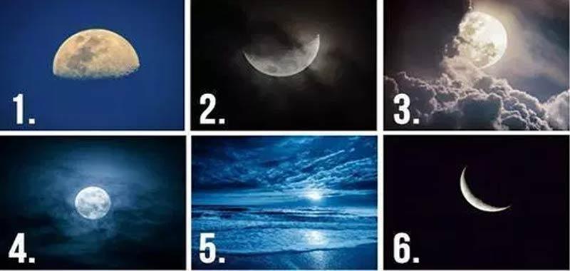 Scegli il tipo di luna preferita e scoprirai la tua personalita