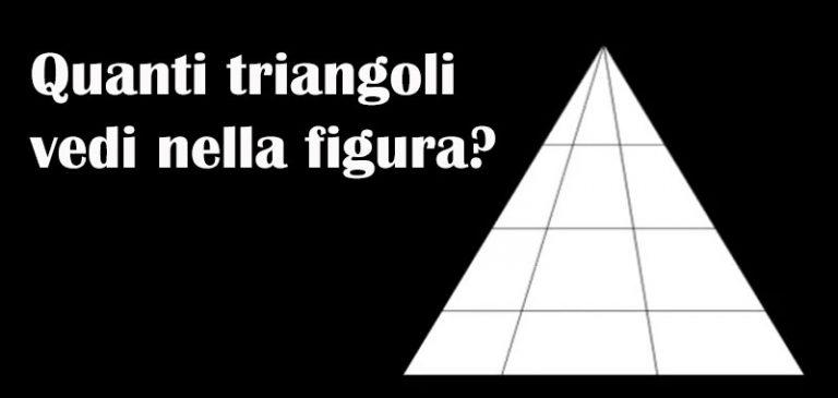 Quanti triangoli vedi nella figura?
