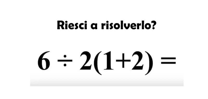 Risolvi questo facile quiz matematico