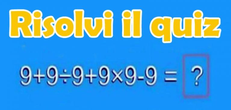 Test matematico: Hai 10 secondi per risolvere il quiz