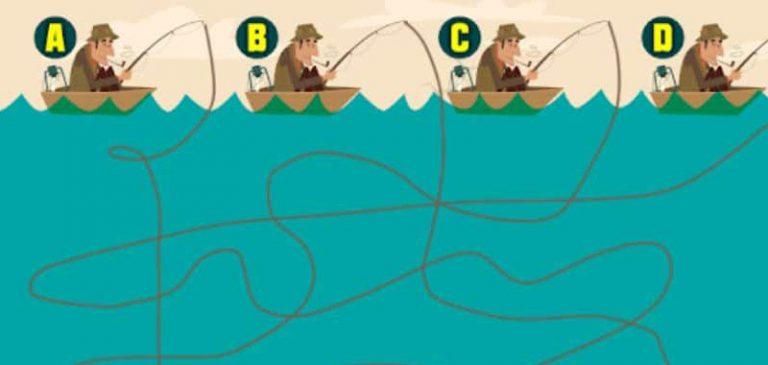 Quiz: Quale pescatore cattura il pesce?