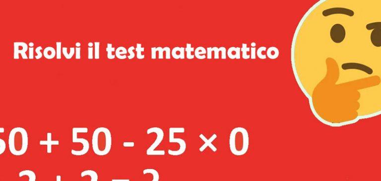 Riesci a risolvere questo test matematico?
