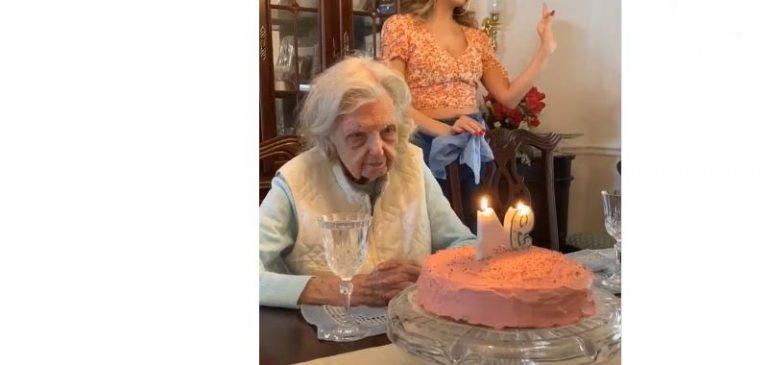 94 anni, spegne la torta e lascia tutti di stucco