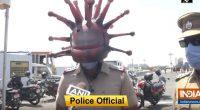 Arrivano i coronacops i poliziotti con elmetto Covid-19