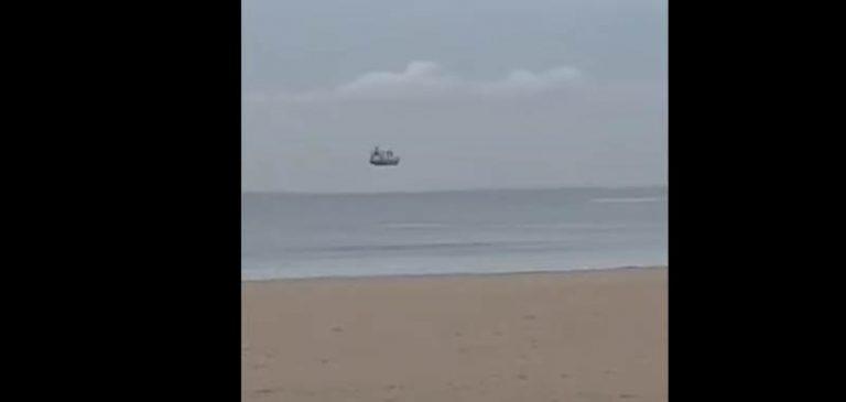 Fenomeno Fata Morgana: filmata nave che galleggia in aria