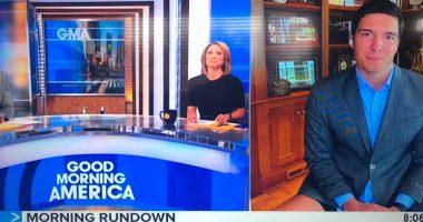 Stati Uniti diretta tv giornalista si presenta in mutande