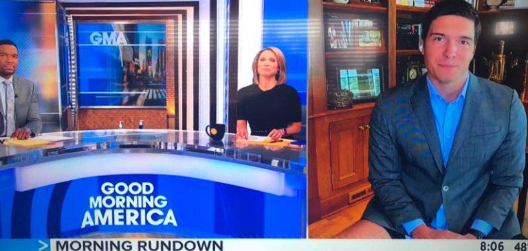 Stati Uniti: diretta tv, giornalista si presenta in mutande