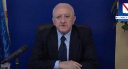 Vincenzo De Luca contrario alla riapertura dei confini regionali