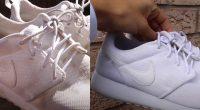 Pulisce le scarpe da ginnastica il video diventa virale sul web