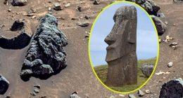 Marte volti identici ai Moai isola di Pasqua