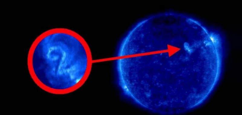 Il numero 2 appare sul Sole