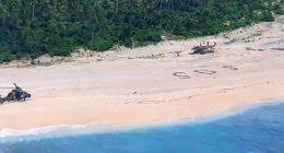 Isola deserta vengono salvati dopo aver scritto SOS
