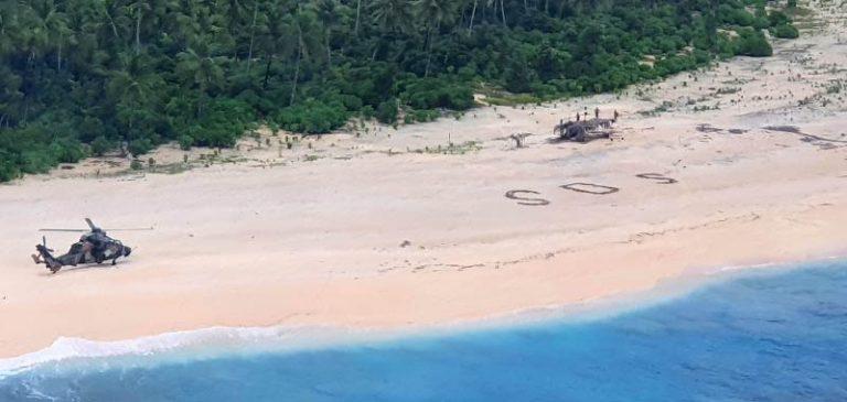 Isola deserta, vengono salvati dopo aver scritto SOS