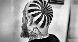 Tatuaggio crea incredibile illusione ottica