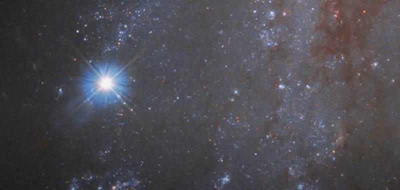 Una stella che esplode catturata nel video della Nasa
