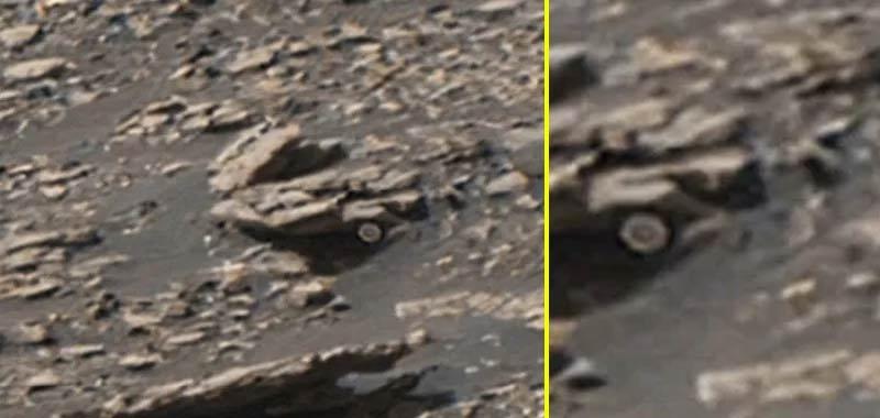 Curiosity trasmette immagini di oggetti alieni