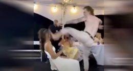 Fa una lap dance al matrimonio colpisce in faccia la sposa