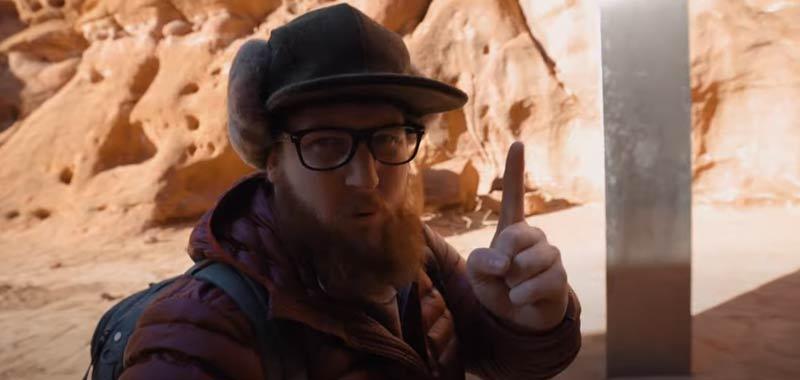 Il monolite nel deserto dello Utah opera di un artista