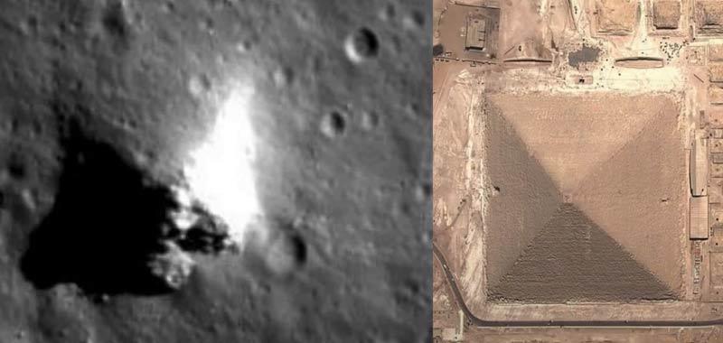 La piramide di Giza esiste anche sulla Luna