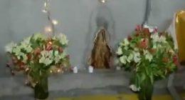 Macchia umidita simile alla statuetta della Vergine