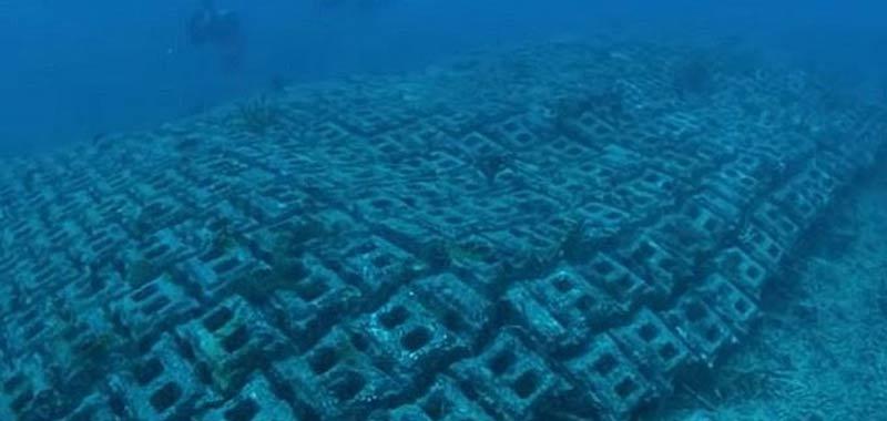 antica strada scoperta sul fondo de oceano