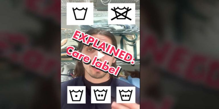 Spiega tutte le etichette dei vestiti e diventa virale sui social