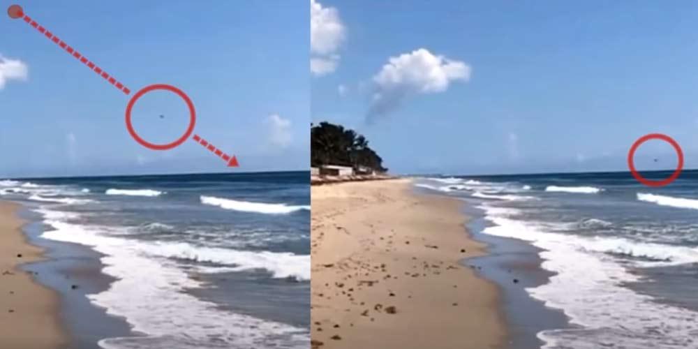 Strano oggetto ad alta velocita entra in acqua