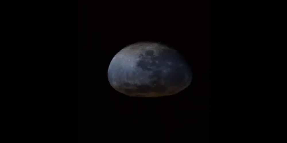 ISS video della Luna che sembra un cartone deformato