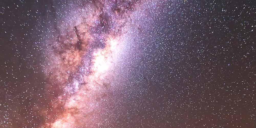 Perche la Via Lattea curva