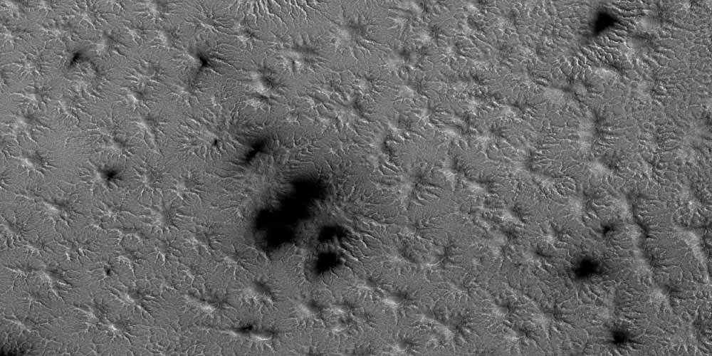 Marte Cosa sono quelle formazioni simili a ragni