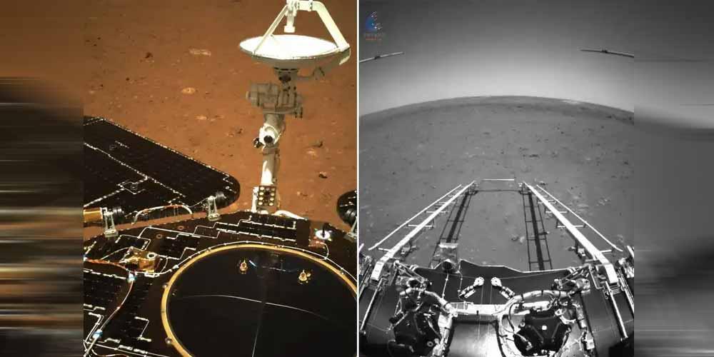 Prime immagini della sonda Cinese su Marte