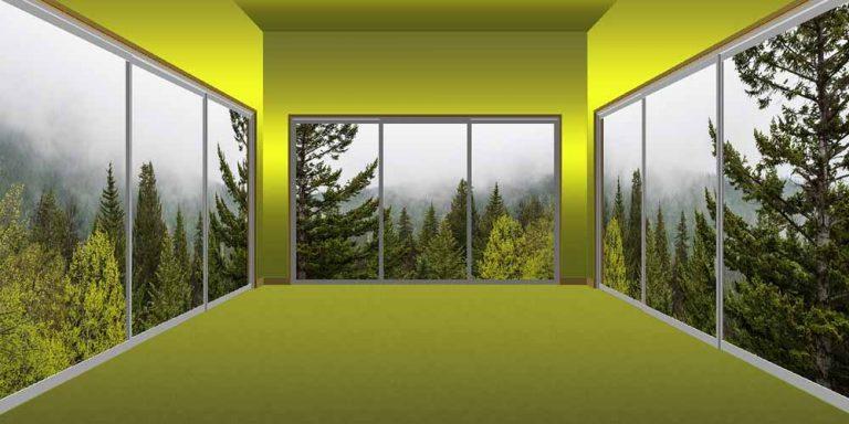 Ricrea finti panorami come finestre di casa sua